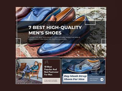 Blog for Jose Real Shoes agency colorful design inspiration vector illustration design ui branding graphic design