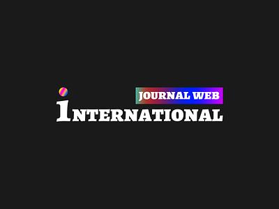 Journal web international Logo design illustration logo vector branding agency design design inspiration colorful