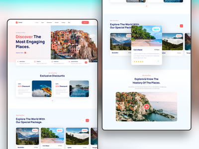 Travelo travel websitedesign design ui