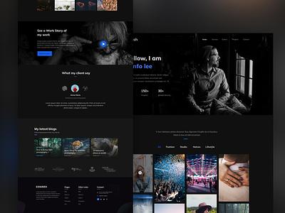 Photography Landing Page web development photography responsivedesign landingpage ux design ui