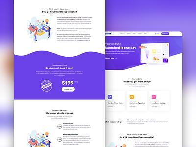 24HWP Landing Page landing page branding design ux ui