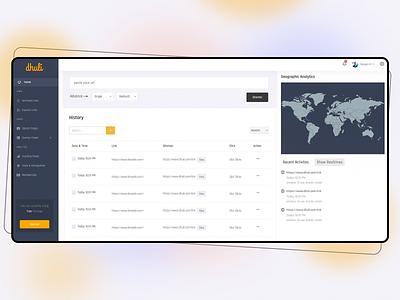 Dhuli Dashboard Design saas ui ux design dashboard