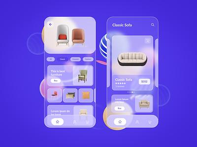 Glassmorphism inspiration designinspiration design color typography appui app mobile mobileapp ux ui
