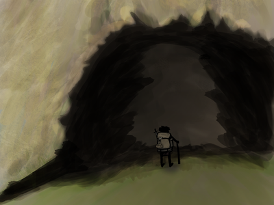 The Cave digital painting painting drawing illustration