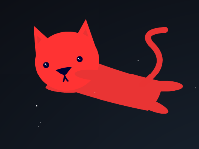Space Cat cute kitty easeljs js animation vector css front-end javascript space cat