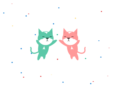 Cat Five motion graphics motion codepen keyframe animals css animation kittens cats