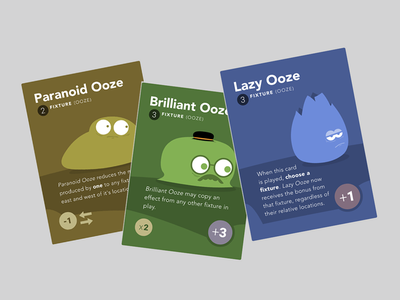 Ooze Cards print design print gaming card game game design game cards ooze