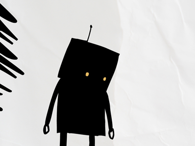 Paper Robot material paper drawing illustration robot
