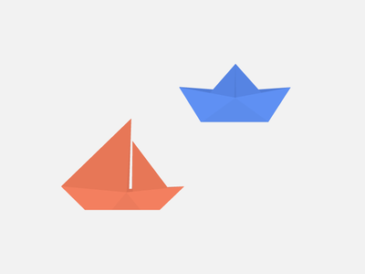 Paper Boats folding simple minimal boat origami boats vector material paper