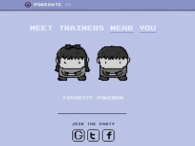 Pokedate.me pokemon go pixel art pixel dating social gaming pokemongo pokemon