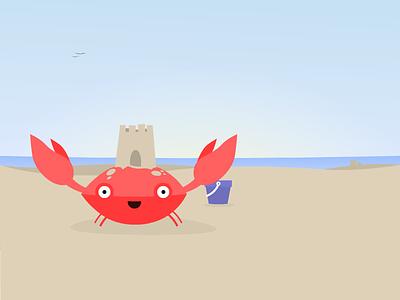Creb castle sandcastle tada seaside tropical bucket beach sand crab