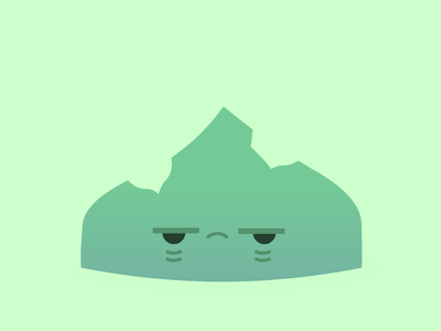 Rotting Ooze green face vector ooze game asset