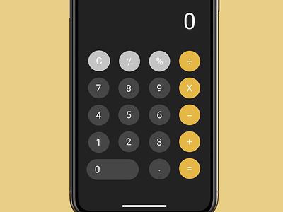 Apple Calculator user interface design calculator ui design ui figma dailyui app