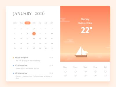 Web/Poof /Weather web weather ui timeline seasons rainy interface illustration