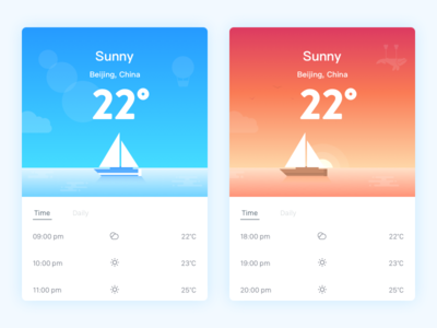 weather weather ui timeline snow seasons rainy ios interface illustration app