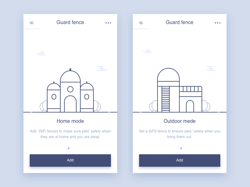 Poof/Guard Fences ui sketch rankings poof messages icon dog data chat app