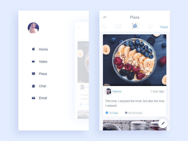 Plaza rankings ui sketch icon data app