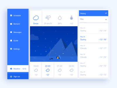 weather weather ui tourism settings schedule moment ipad guide chat app