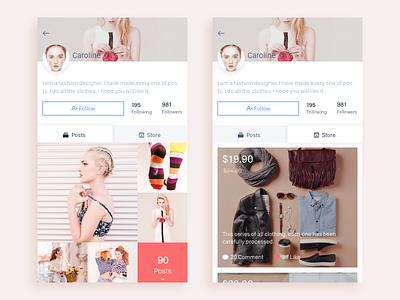 Posts/Store store posts sketch ios ui app