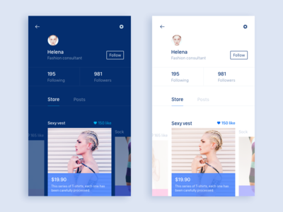 Store app,shopping ui store sketch posts ios