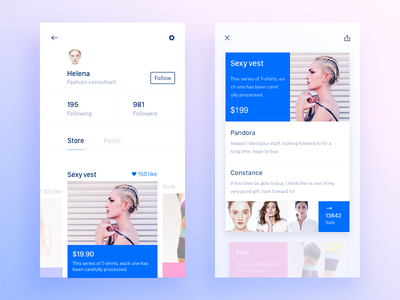 Store/Sale app,shopping ui store sketch posts ios