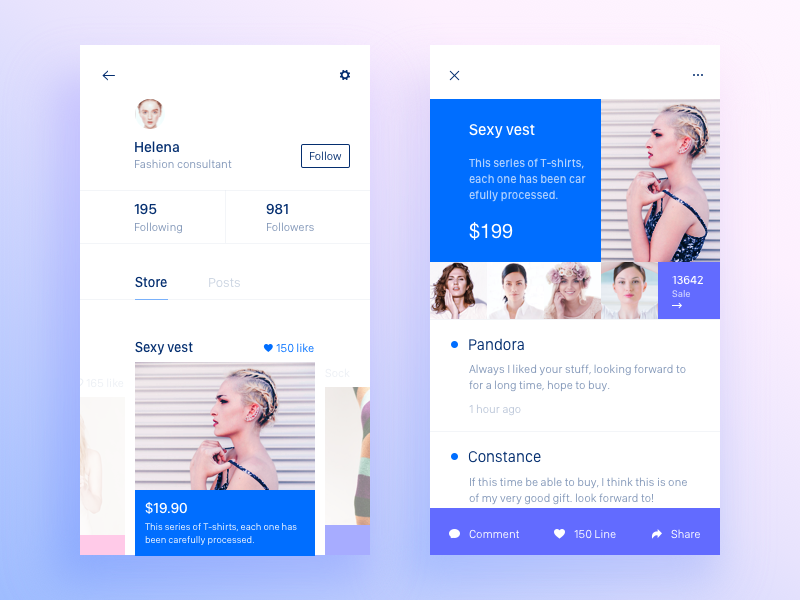 Store/Sale shopping ui store sketch posts ios app