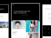 Website for MyLola, a global PR agency