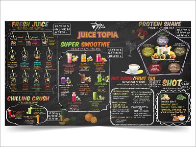 Chalkboard menu design menu design chalkboard menu for juice chalkboard menu design graphic design