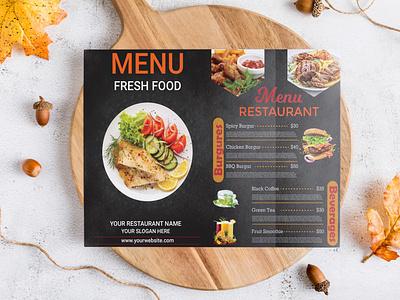 Restaurant Menu Card Design restaurant menu flyer menu card design