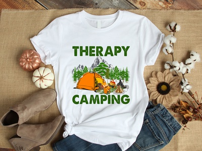 Camping T-Shirt Design teepublic camping t-shirt branding t-shirt design graphic design