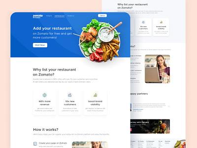Add Restaurant Platform ux design website login signup onboarding dashboard customers revenue restaurant platform web design web