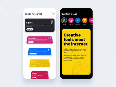 Design resources cards ui motion animation clean minimal android search cards feed app design ux ui mobile ios