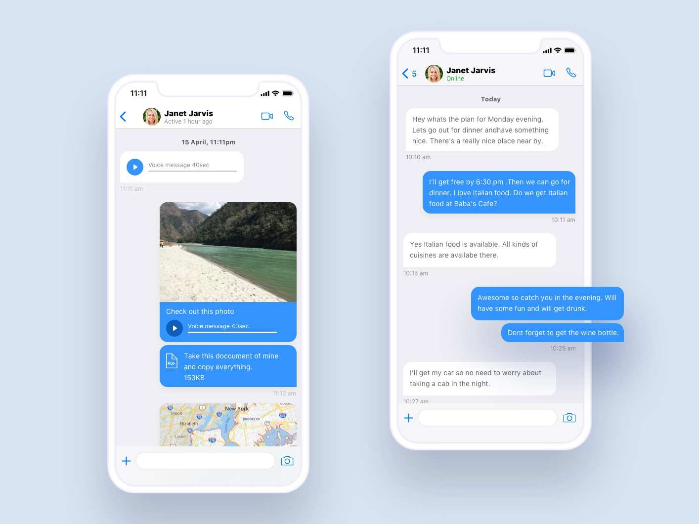 ios Messaging UI photos bot chat messenger messaging application cards search android feed ux ui design app mobile ios