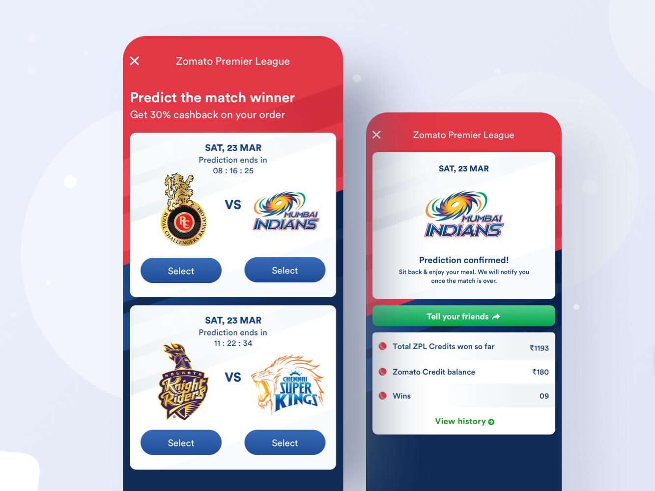 Zomato Premier League by Shoaib Prasad for Zomato on Dribbble