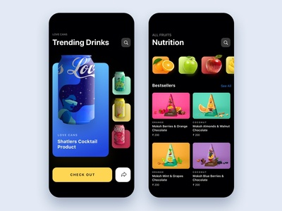 Food and drinks app iOS 13