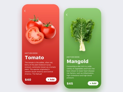 Food and drinks app ecommerce diet food interface application cards search feed design app ux ui mobile ios