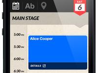 Mobile concert schedule/lineup app