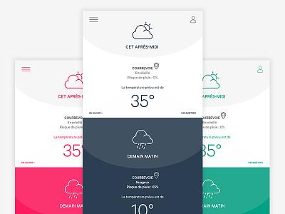 Meteo Design Mobile mobile design