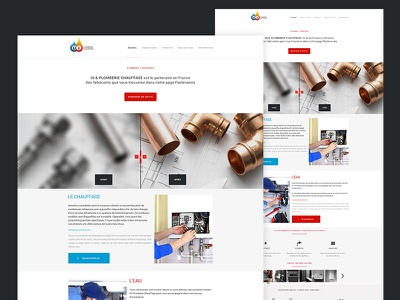Plomberie Chauffage maquette webdesign design website