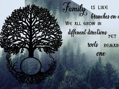 Family Tree Wall Art illustration design