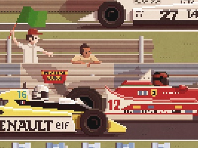 Scene #12: '1979' pixelart pixelshuh art painting digital formula1 f1