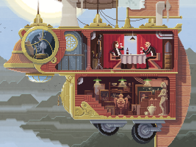 Scene #28: 'The Art Thieves' art illustration octavi navarro pixels huh pixel art
