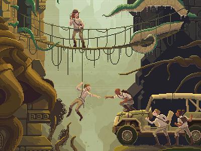 Scene #29: 'The Stolen Idol' pixel art pixels huh octavi navarro illustration art