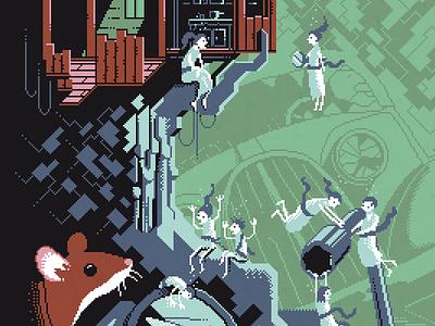 Scene #31: 'The Treehouse' art illustration octavi navarro pixels huh pixel art