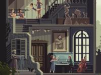 Scene #32: 'The Art School' (detail)