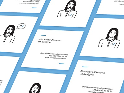 C / Business cards uxdesign cartoonyourself square selfpromotion businesscards