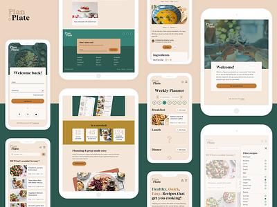 Plan-To-Plate | Responsive recipe web app recipes re meal planning meals food web app responsive ui design ux design ui ux