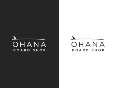 Ohana Board Shop! graphic design design visual shop branding mark logo surf