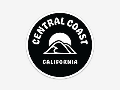 Central Coast California hobeaux graphic design glyph logo decal sticker