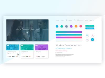 Udacity Refresh Style Guide web design branding ui design system styleguide udacity